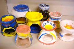great idea for functional ceramic project. arteascuola: i diffusori di essenze in ceramica