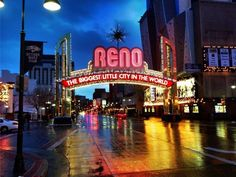 A beautiful image of the Reno Arch at night photographed by Matt Nelson. #renolens