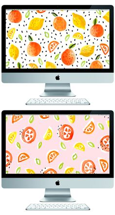 something for your screen - Mac Computer Desktop - Ideas of Mac Computer Desktop - oranges & lemons desktop wallpaper // The Lovely Drawer Desktop Wallpaper Design, Cute Laptop Wallpaper, Computer Screen Wallpaper, Watercolor Desktop Wallpaper, Mac Wallpaper, Macbook Wallpaper, Trendy Wallpaper, Designer Wallpaper, Pattern Wallpaper
