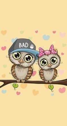 Whatsapp Wallpaper Owl Wallpaper, Couple Wallpaper, Cute Disney Wallpaper, Cellphone Wallpaper, Wallpaper Backgrounds, Best Iphone Wallpapers, Cute Wallpapers, Owl Cartoon, Whatsapp Wallpaper