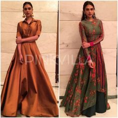 Yay or Nay : Aditi Rao Hydari in Payal Khandwala and Saaksha and Kinni Pakistani Dresses, Indian Dresses, Indian Outfits, Kurti Neck Designs, Saree Blouse Designs, Indian Party Wear, Indian Wear, Celebrity Gowns, Celebrity Style