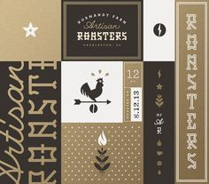 Normandy_farm_roasters_brand_board_j_fletcher — Designspiration