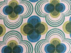 Baumwolle/Canvas+Retro+grün/blau+Robert+Kaufmann+von+FrauRogge++auf+DaWanda.com