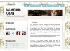 A simple layout that is flexible and easy to manage. The paranormal website is beautifully organized and clean in design, a great example.