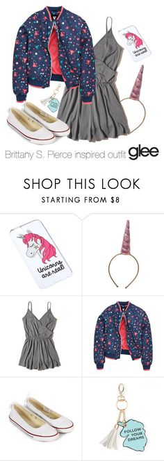 """""""Brittany S. Pierce inspired outfit"""" by tvdsarahmichele ❤ liked on Polyvore featuring Miss Selfridge, Rice, Hollister Co., Converse and Under One Sky"""