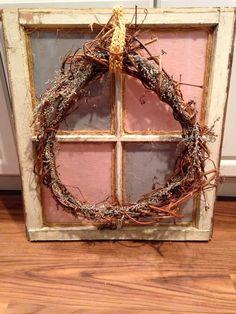 Window and wreath decor