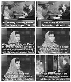 Wise and inspiring Malala interviewed by Jon Stewart.
