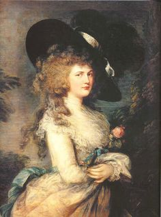 Georgiana Duchess of Devonshire, known for her huge hat