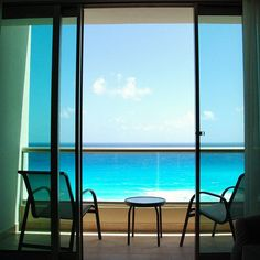 Pretending that waking up to an impending snow storm is as lovely as waking up with a view of the Caribbean...