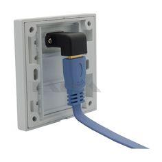 HDMI tường tấm với góc side nữ nữ để nối hỗ trợ 3D và 4 K