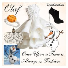 """""""Disney Style: Olaf"""" by trulygirlygirl ❤ liked on Polyvore featuring Giuseppe Zanotti, Alexander McQueen and Allurez"""
