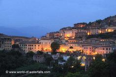 pictures of arpino frosinone italy | Twilight in the charming town of Arpino, which was about 15-20 minutes ...
