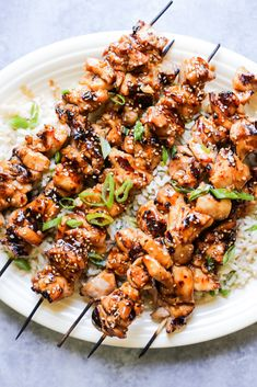 Grilled Sesame Chicken Skewers with Ginger-Scallion Rice Related posts:Corn Tomato Avocado Easy and Thoughtful Mother's Day Crafts the Kids Can DIYKey West Grilled Chicken Grilling Recipes, Paleo Recipes, Cooking Recipes, Vegetarian Grilling, Healthy Grilling, Barbecue Recipes, Barbecue Sauce, Vegetarian Food, Grilling Chicken