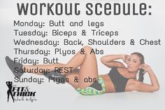 Creating a Workout Schedule - Get Fit and Thick with Nicole Mejia Workout Schedule, Gym Workouts, At Home Workouts, Workout Ideas, Fitness Diet, Fitness Motivation, Health Fitness, Fitness Routines, Fitness Plan