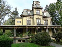 Van Wyck Brooks Historic District: Plainfield, NJ - Second Empire Mansion on Central Avenue.