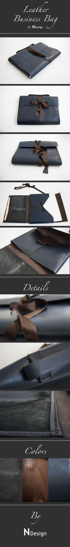 Leather Business Bag - by N Design The Originals, Business, Cover, Leather, Bags, Design, Organizers, Handbags, Totes