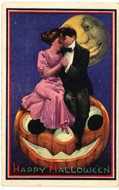 Halloween Postcard by Bernhardt Wall