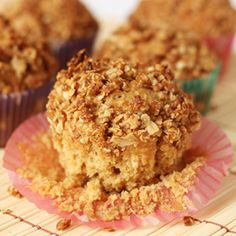 Applesauce Oatmeal Muffins   Yum....?  Will try soon!!