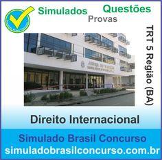 Boa noite Concurseiros, se você vai prestar o Concurso do TRT 5 Região (BA), aproveite que estamos com novos Simulados de Direito Internacional e de muitas outras matérias.  http://simuladobrasilconcurso.com.br/simulados/concursos  Descubra!!! Compartilhe!!! Curta!!!  Muito Obrigado e Bons Estudos, Simulado Brasil Concurso  #simuladobrasilconcurso, #simuladosTRT, #provasTRT, #questoesTRT