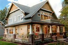 traditional homes - wrap around porch!!! Yes!