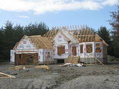 Projet résidentiel Rouyn-Noranda, Québec Cabin, House Styles, Home Decor, Decoration Home, Room Decor, Cabins, Cottage, Interior Design, Home Interiors