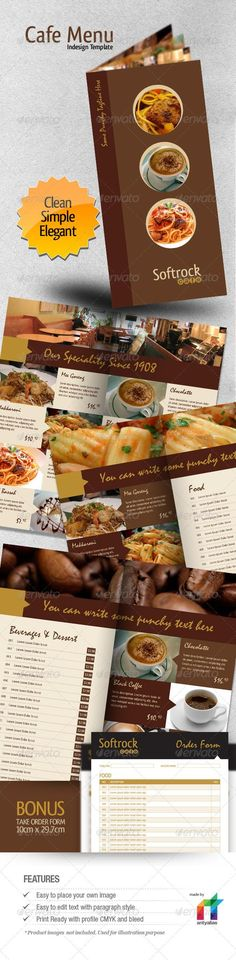 Restaurant Menu Indesign Template Restaurant and Templates - cafe menu templates free download