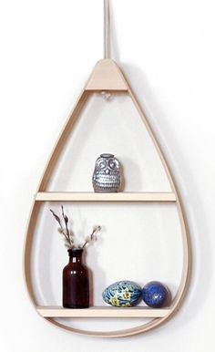 Mid-Century Teardrop Shelf