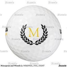 Monogram and Wreath Golf Balls
