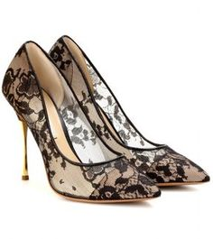 Nicholas Kirkwood Lace pumps with metallic stiletto heel on shopstyle.com