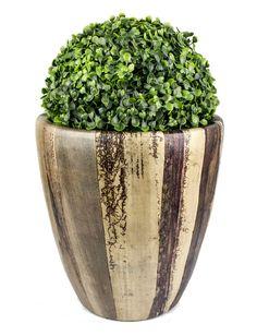 Cachepo cerâmica revestido de fibra de bananeira colagem: Clique para ver detalhes