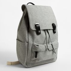 The Twill Backpack - Reverse Denim with Black Leather – Everlane