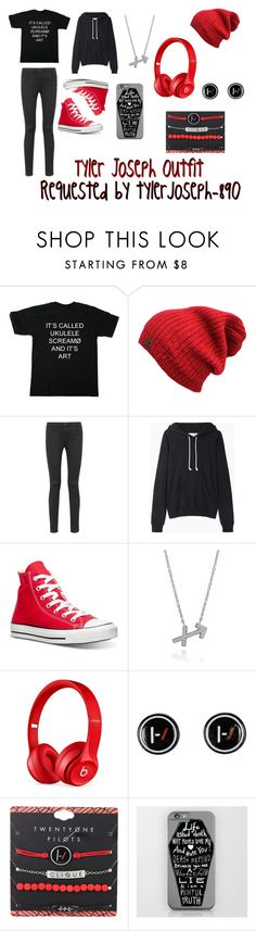"""Tyler Joseph Outfit"" by the-freak-of-nature ❤ liked on Polyvore featuring T By Alexander Wang, La Garçonne Moderne, Converse, BERRICLE and Beats by Dr. Dre"