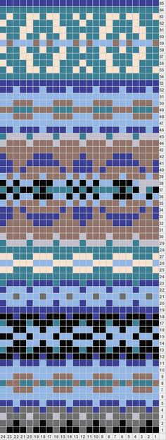 Cross stitch pattern but could be used for knitting Fair Isle Knitting Patterns, Fair Isle Pattern, Bead Loom Patterns, Knitting Charts, Knitting Designs, Knitting Stitches, Pixel Crochet, Crochet Chart, Mochila Crochet