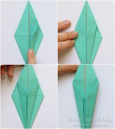 Cómo hacer grullas de origami y armar un móvil - Guía de MANUALIDADES Coasters, Diy, Kawaii, How To Make, Paper Ornaments, Patterns, Build Your Own, Bricolage, Kawaii Cute