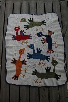 I don't know why this came up in my Ravelry search for crochet pillows... but this might just be the weirdest and yet coolest baby blanket I have ever seen!