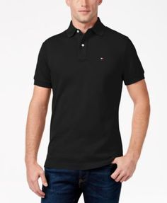 e17437c5 Tommy Hilfiger Men's Custom-Fit Ivy Polo Mens Big And Tall, Big & Tall