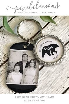 af428bcdef45 Papa Bear Personalized Keychain