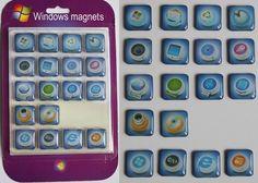Magnete in Apps Windows Design 18 Stück Set.