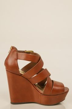 6754d0b9c7 The perfect pair of cognac wedges! Spring perfection! You don't just want