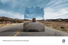 """Campanha da AlmapBBDO para Volkswagen ACC System (""""mantêm você a uma distância segura do veículo àfrente"""").    Use as setas (à direita e à esquerda) no slideshow acima para ver os anúncios.    Advertising Agency: AlmapBBDO, Brazil  Chie..."""