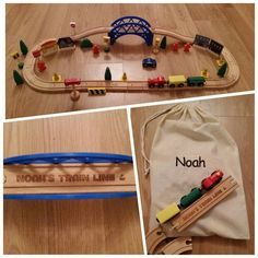 Your place to buy and sell all things handmade Use Of Capital Letters, Preschool Birthday, String Bag, Embroidered Bag, Christening Gifts, Train Set, Kid Names, Wooden Toys, Gifts For Kids