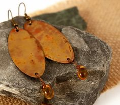 Copper Earrings Tribal Primitive Jewelry (18.00 USD) by GaelicForge - handmade - jewelry - jewellery - artisan - etsy