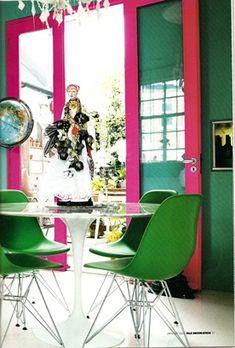 more matthew williamson--love the hot pink doors