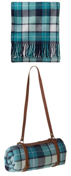 Pendleton Eco-Wise Washable Throw with Leather Carrier
