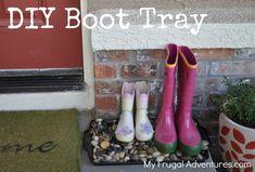 DIY Pebble Boot Tray
