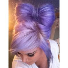 purple hair bow pastel hair