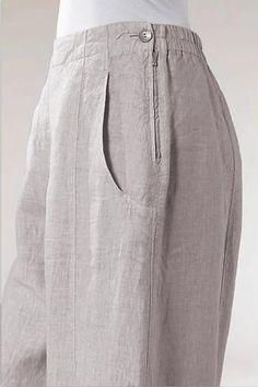 Zipper-Linen-Side-Pockets-Casual-Pants - shopingnova Source by eridanjacinto clothes patterns Kurta Designs, Blouse Designs, Fashion Pants, Fashion Outfits, Mode Hijab, Pants Pattern, Overall, Skirt Pants, Shorts