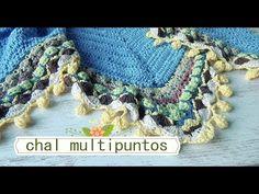 Como hacer chal en crochet multipuntos |1º clase |ganchillo facil - YouTube