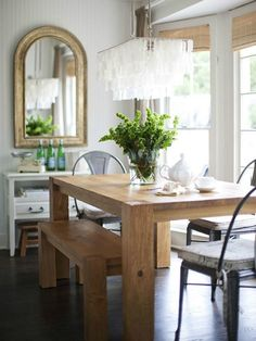 mixture of elegance, rustic, and industrial. couldn't love this more!