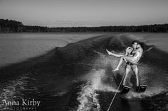 Water Skiing Engagement Session | Anna Kirby Photography - Durham Wedding Photographer and Tampa Wedding Photographer